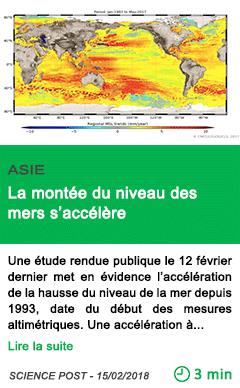 Science la montee du niveau des mers s accelere
