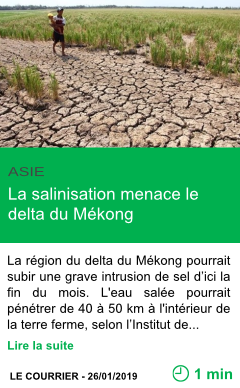 Science la salinisation menace le delta du mekong page001