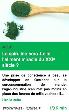 Science la spiruline sera t elle l aliment miracle du xxi siecle