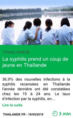 Science la syphilis prend un coup de jeune en thailande page001