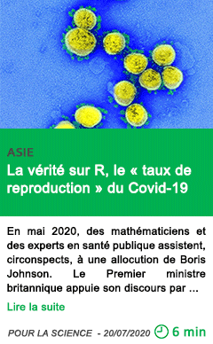 Science la verite sur r le taux de reproduction du covid 19