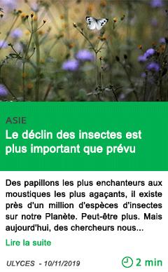 Science le declin des insectes est plus important que prevu