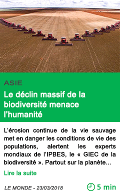 Science le declin massif de la biodiversite menace l humanite