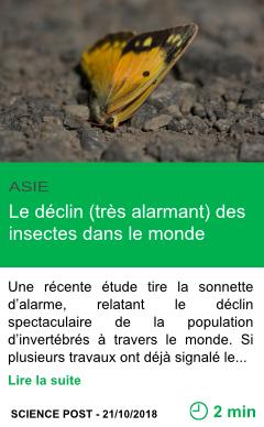Science le declin tres alarmant des insectes dans le monde page001