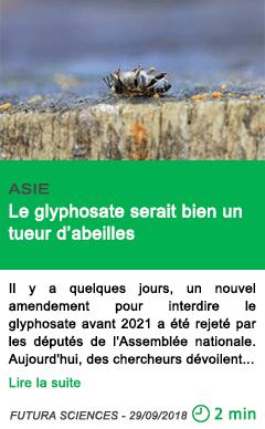 Science le glyphosate serait bien un tueur d abeilles