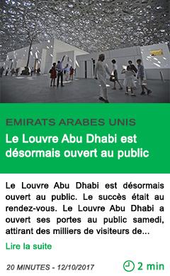 Science le louvre abu dhabi est desormais ouvert au public