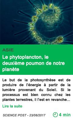 Science le phytoplancton le deuxieme poumon de notre planete