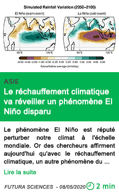 Science le rechauffement climatique va reveiller un phenomene el nino disparu