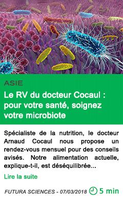 Science le rv du docteur cocaul pour votre sante soignez votre microbiote