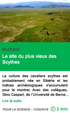 Science le site du plus vieux des scythes