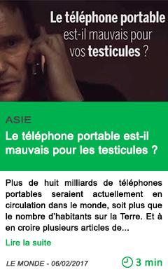 Science le telephone portable est il mauvais pour les testicules