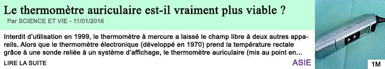 Science le thermometre auriculaire est il vraiment plus viable