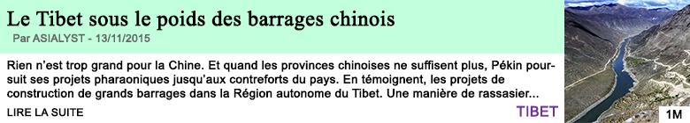 Science le tibet sous le poids des barrages chinois