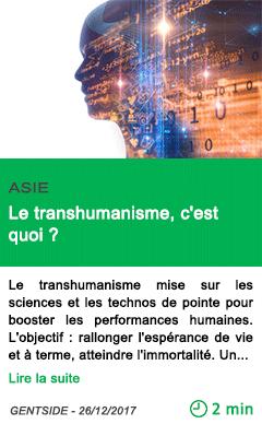 Science le transhumanisme c est quoi