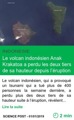Science le volcan indonesien anak krakatoa a perdu les deux tiers de sa hauteur depuis l eruption page001