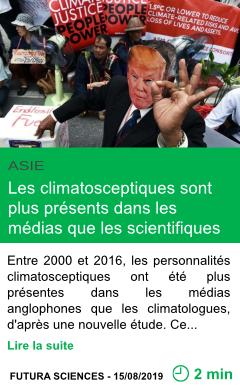 Science les climatosceptiques sont plus presents dans les medias que les scientifiques page001