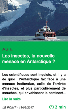 Science les insectes la nouvelle menace en antarctique