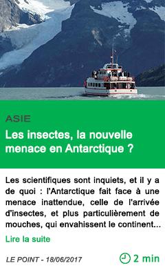 Science les insectes la nouvelle menace en antarctique