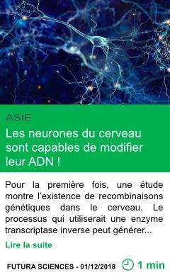 Science les neurones du cerveau sont capables de modifier leur adn page001