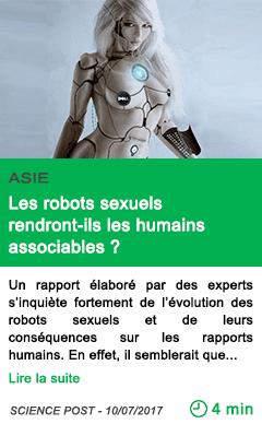 Science les robots sexuels rendront ils les humains associables