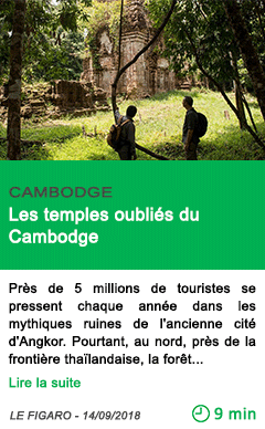 Science les temples oublies du cambodge