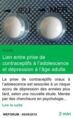 Science lien entre prise de contraceptifs a l adolescence et depression a l age adulte page001
