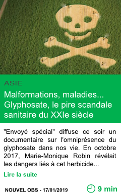 Science malformations maladies glyphosate le pire scandale sanitaire du xxie siecle page001