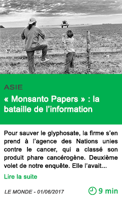 Science monsanto papers la bataille de l information