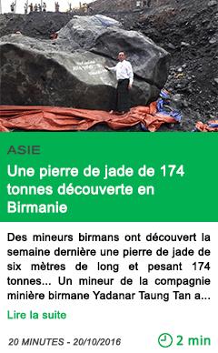 Science myanmar une pierre de jade de 174 tonnes decouverte en birmanie