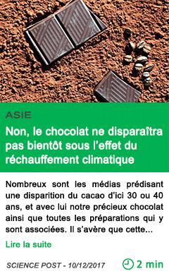 Science non le chocolat ne disparaitra pas bientot sous l effet du rechauffement climatique