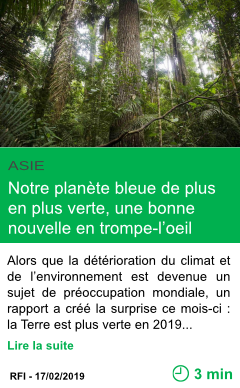 Science notre planete bleue de plus en plus verte une bonne nouvelle en trompe l oeil page001