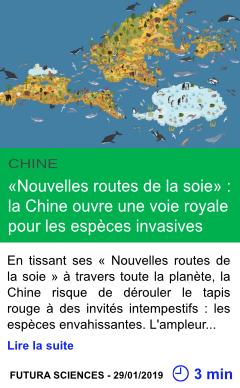 Science nouvelles routes de la soie la chine ouvre une voie royale pour les especes invasives page001