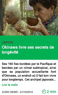Science okinawa livre ses secrets de longevite
