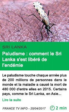 Science paludisme comment le sri lanka s est libere de l endemie