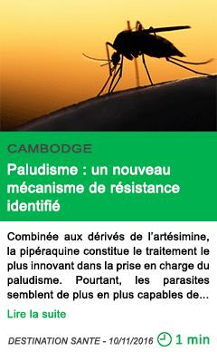Science paludisme un nouveau mecanisme de resistance identifie