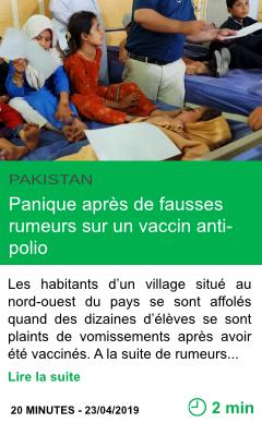 Science panique apres de fausses rumeurs sur un vaccin anti polio page001