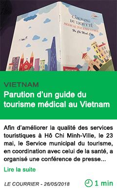Science parution d un guide du tourisme medical au vietnam