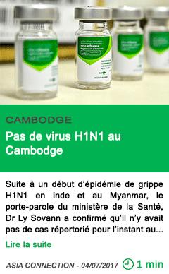 Science pas de virus h1n1 au cambodge