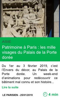 Science patrimoine a paris les mille visages du palais de la porte doree page001