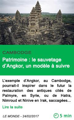 Science patrimoine le sauvetage d angkor un modele a suivre