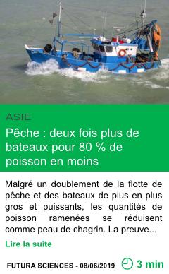 Science peche deux fois plus de bateaux pour 80 de poisson en moins page001