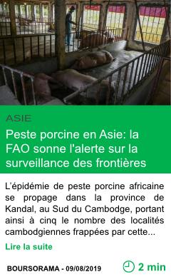 Science peste porcine en asie la fao sonne l alerte sur la surveillance des frontieres page001