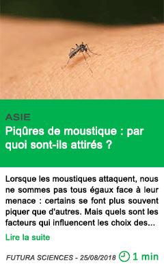Science piqures de moustique par quoi sont ils attires
