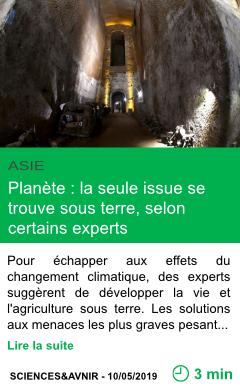 Science planete la seule issue se trouve sous terre selon certains experts page001