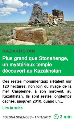 Science plus grand que stonehenge un mysterieux temple decouvert au kazakhstan