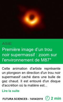 Science premiere image d un trou noir supermassif zoom sur l environnement de m87 page001