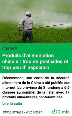 Science produits d alimentation chinois trop de pesticides et trop peu d inspection
