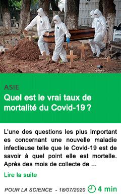 Science quel est le vrai taux de mortalite du covid 19