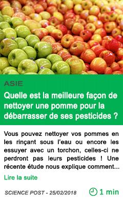 Science quelle est la meilleure facon de nettoyer une pomme pour la debarrasser de ses pesticides