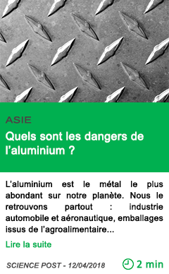 Science quels sont les dangers de l aluminium 1